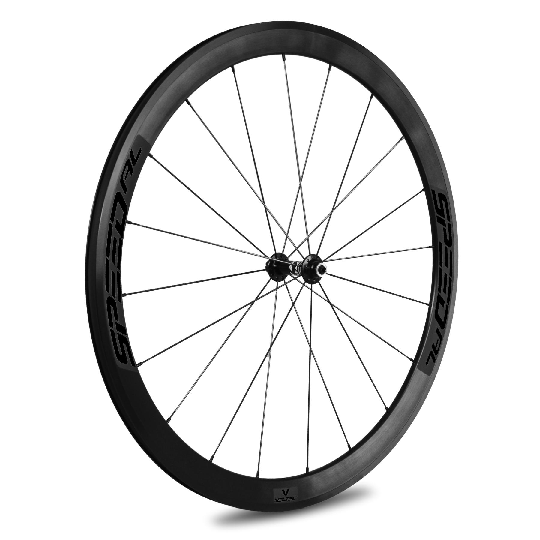 Veltec Speed AL Vorderrad - Drahtreifen - QR100 - schwarz