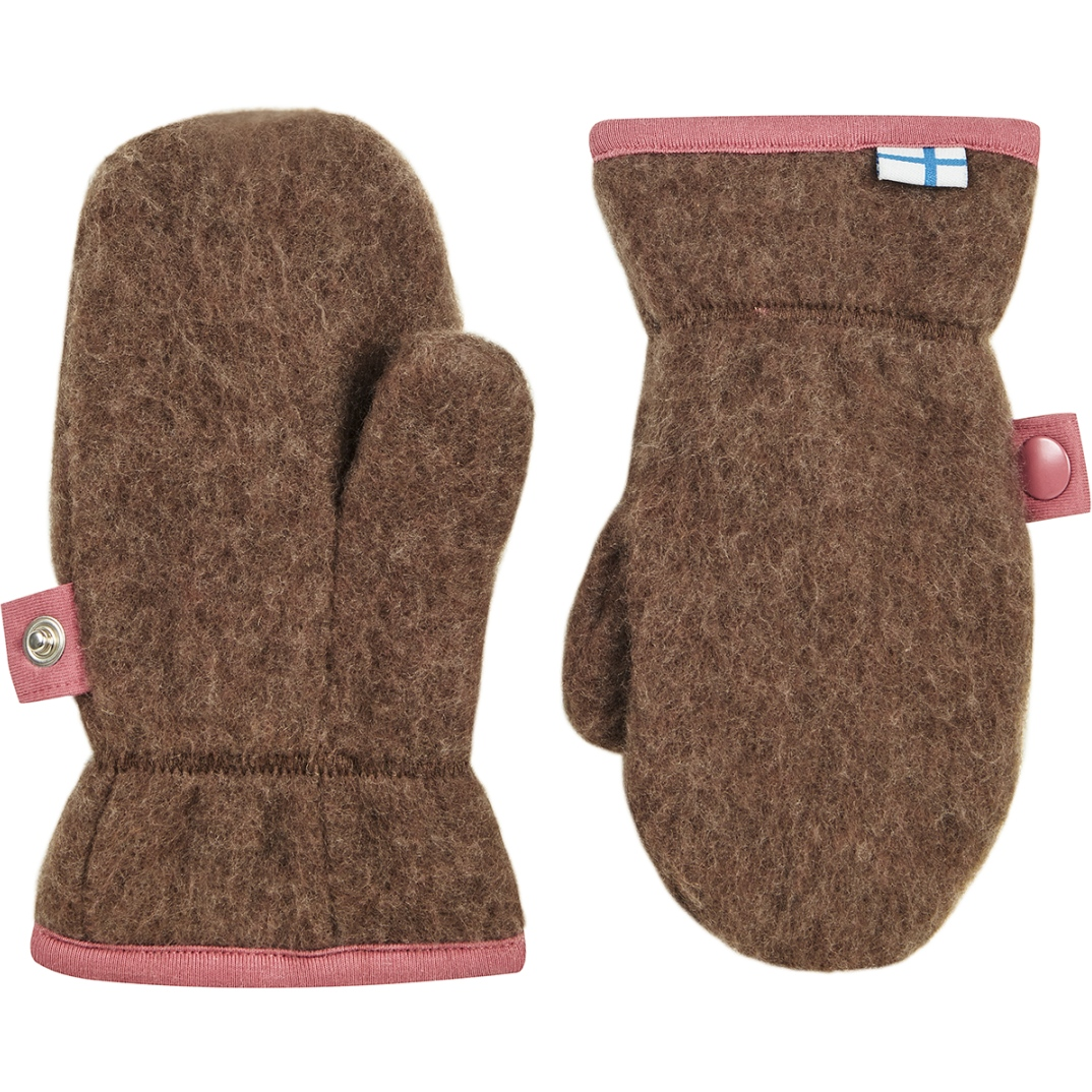 Picture of Finkid NUPUJUSSI WOOL Kids Mittens - cocoa