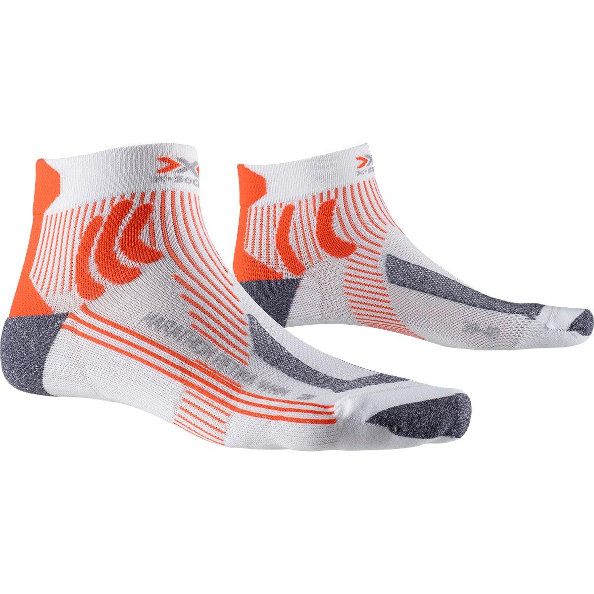X-Socks Marathon Retina Laufsocken für Damen - white/orange