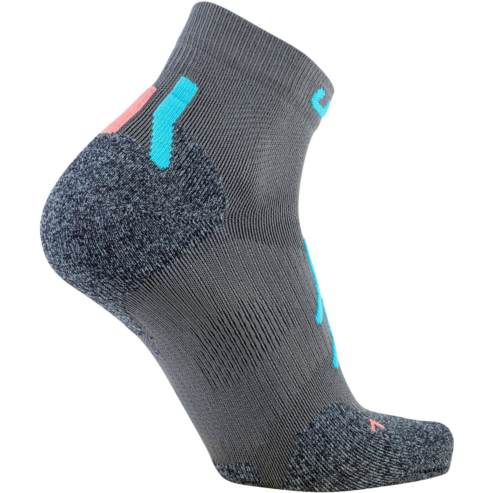 Image of UYN Lady Trekking Approach Low Cut Socks - Grey/Turquoise