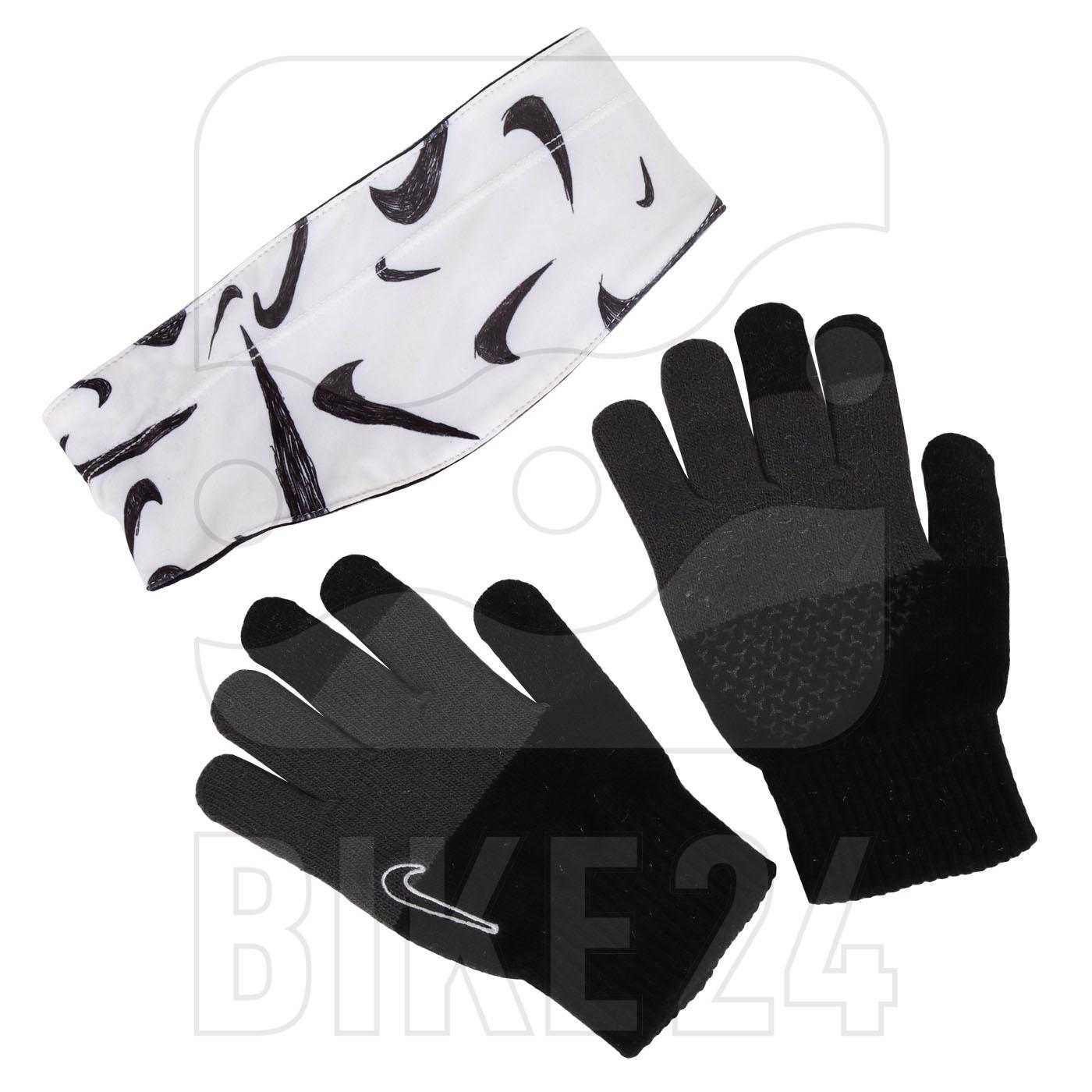 Foto de Nike Hyperstorm Cinta pelo y guantes para niños - black/black/white 955
