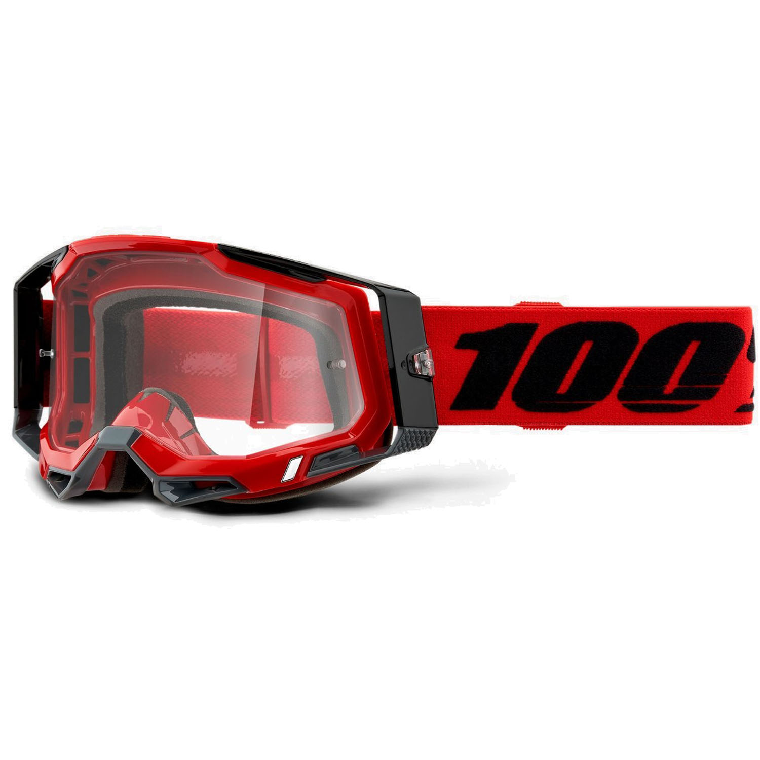 100% Racecraft 2 Goggle Clear Lens Gafas - Red