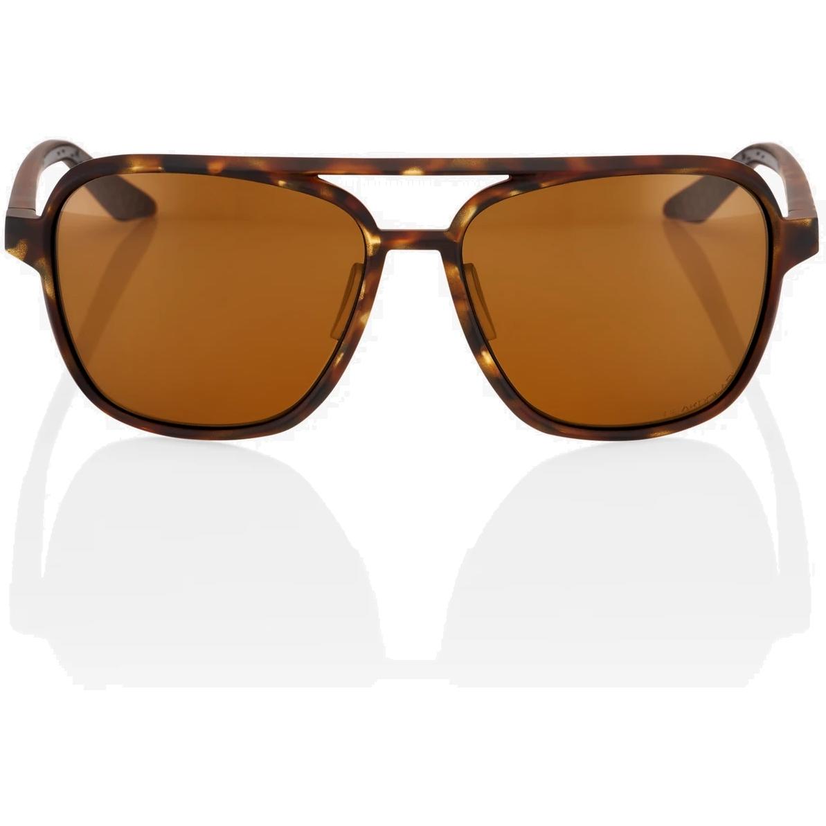 Imagen de 100% Kasia Aviator round Gafas - Soft Tact Havana - Bronze Peakpolar Lens