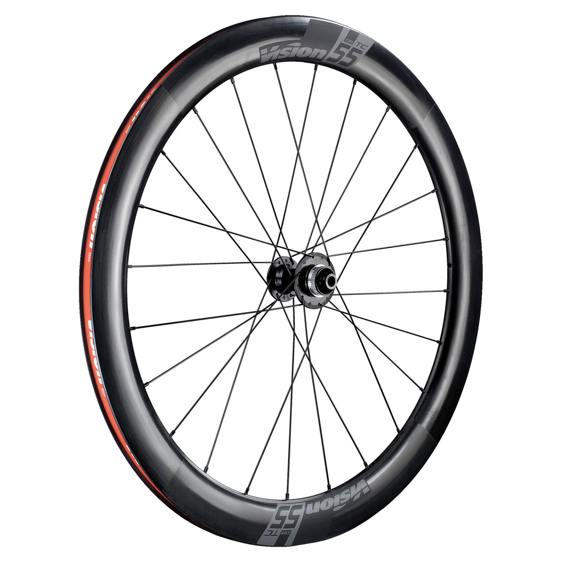 Bild von Vision TC 55 Disc Carbon Laufradsatz - TLR - Centerlock - 12x100mm | 12x142mm - Shimano HG