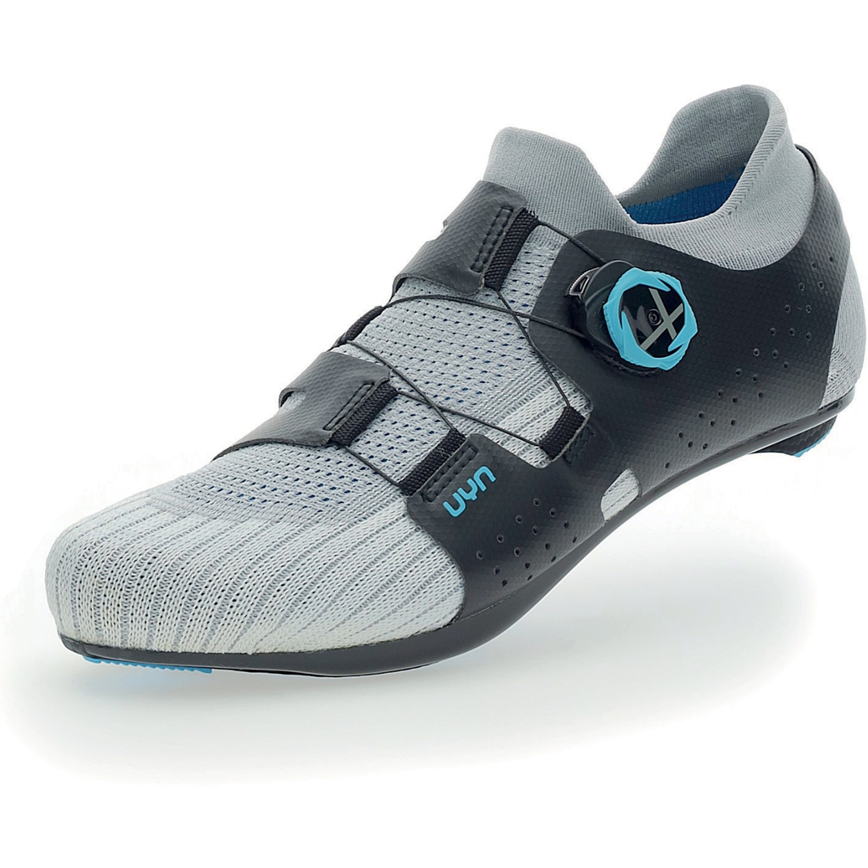 UYN Naked Carbon Road Bike Shoes - Silver/Blue