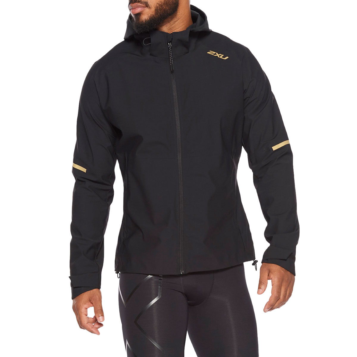 Imagen de 2XU GHST Waterproof Chaqueta para hombre - black/gold reflective