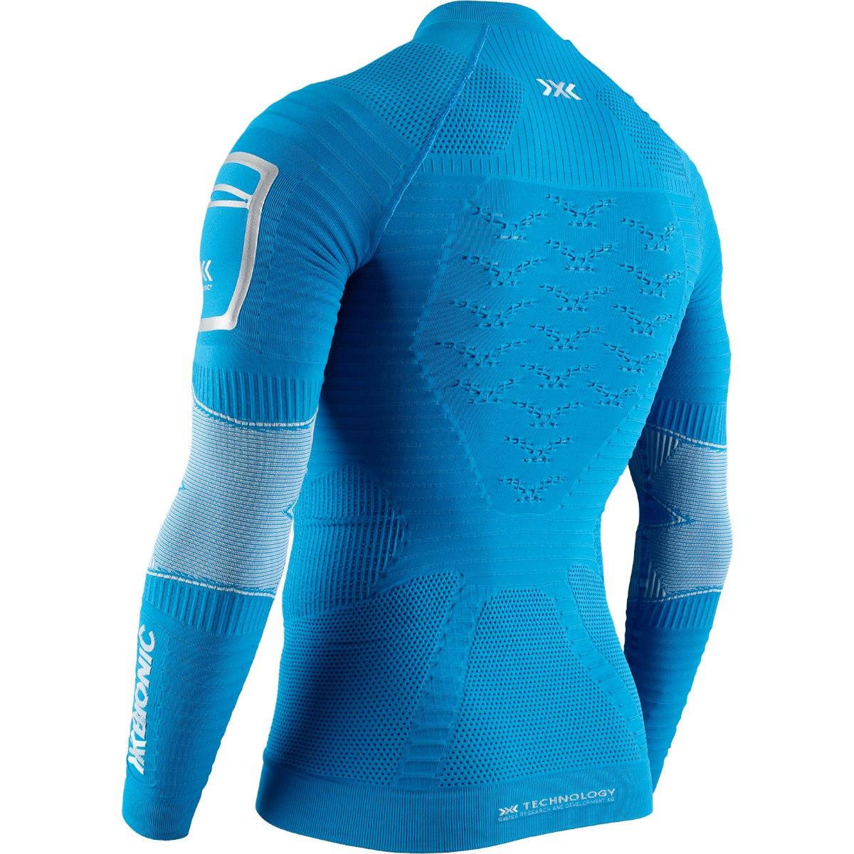 Bild von X-Bionic Effektor 4.0 Trail Run Powershirt 1/2 Zip Langarmshirt für Herren - teal blue/dolomite grey