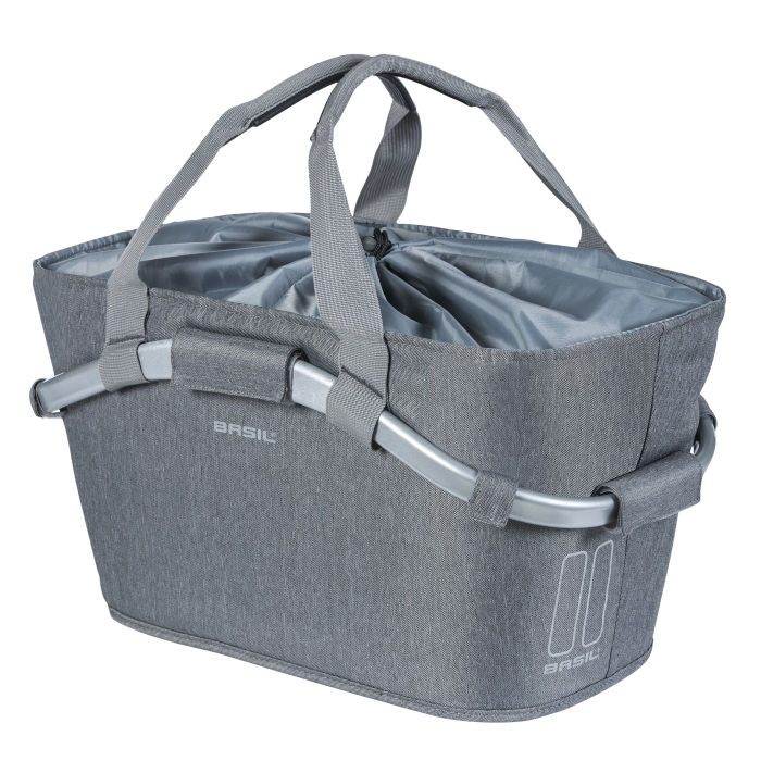 Basil 2Day Carry All Rear Basket - grey