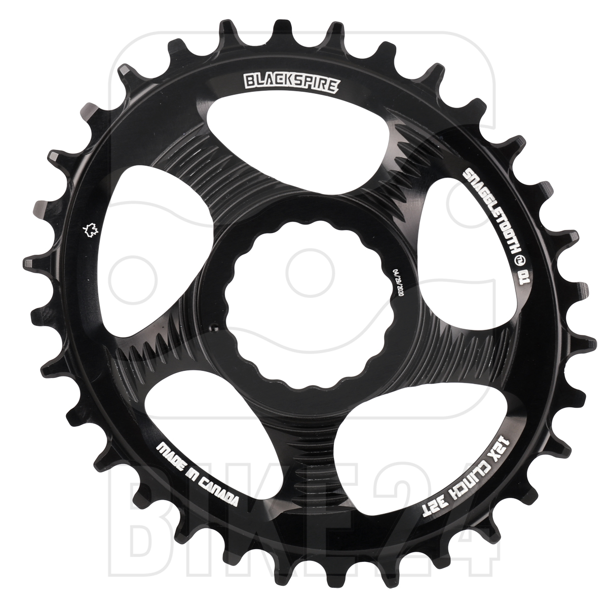 Blackspire Snaggletooth Oval Narrow-Wide Direct Mount Chainring - Race Face - black   12-speed