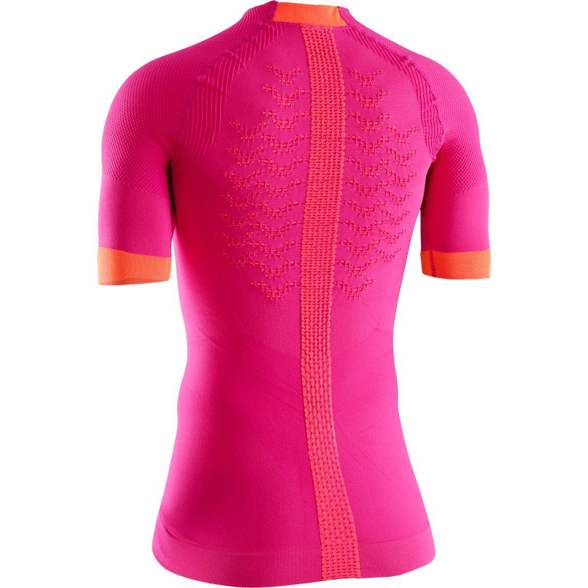 Image of X-Bionic The Trick 4.0 Run Shirt Short Sleeves for Women - trick pink/kurkuma orange