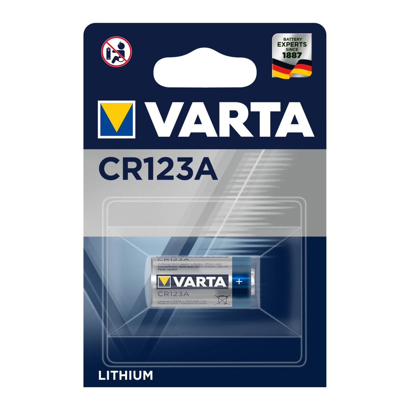 Bild von Varta Batterie Typ CR123A
