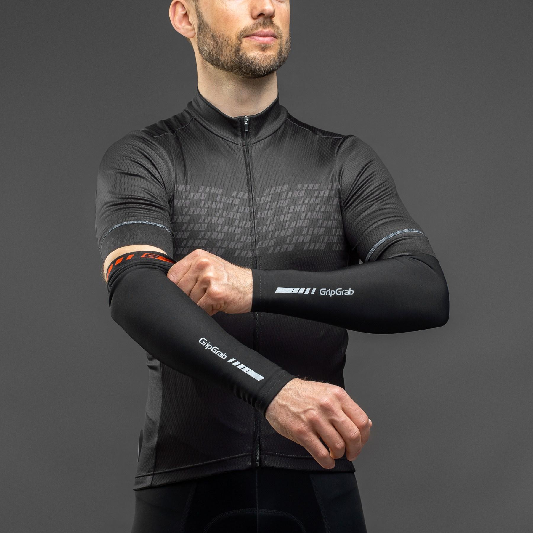 Image of GripGrab AquaRepel Thermal Arm Warmers - Black