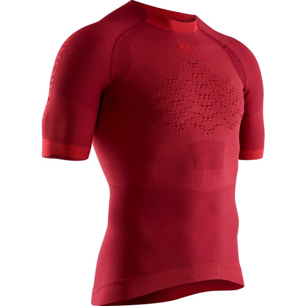 Image of X-Bionic The Trick 4.0 Run Shirt Short Sleeves for Men - namib red/sunset orange