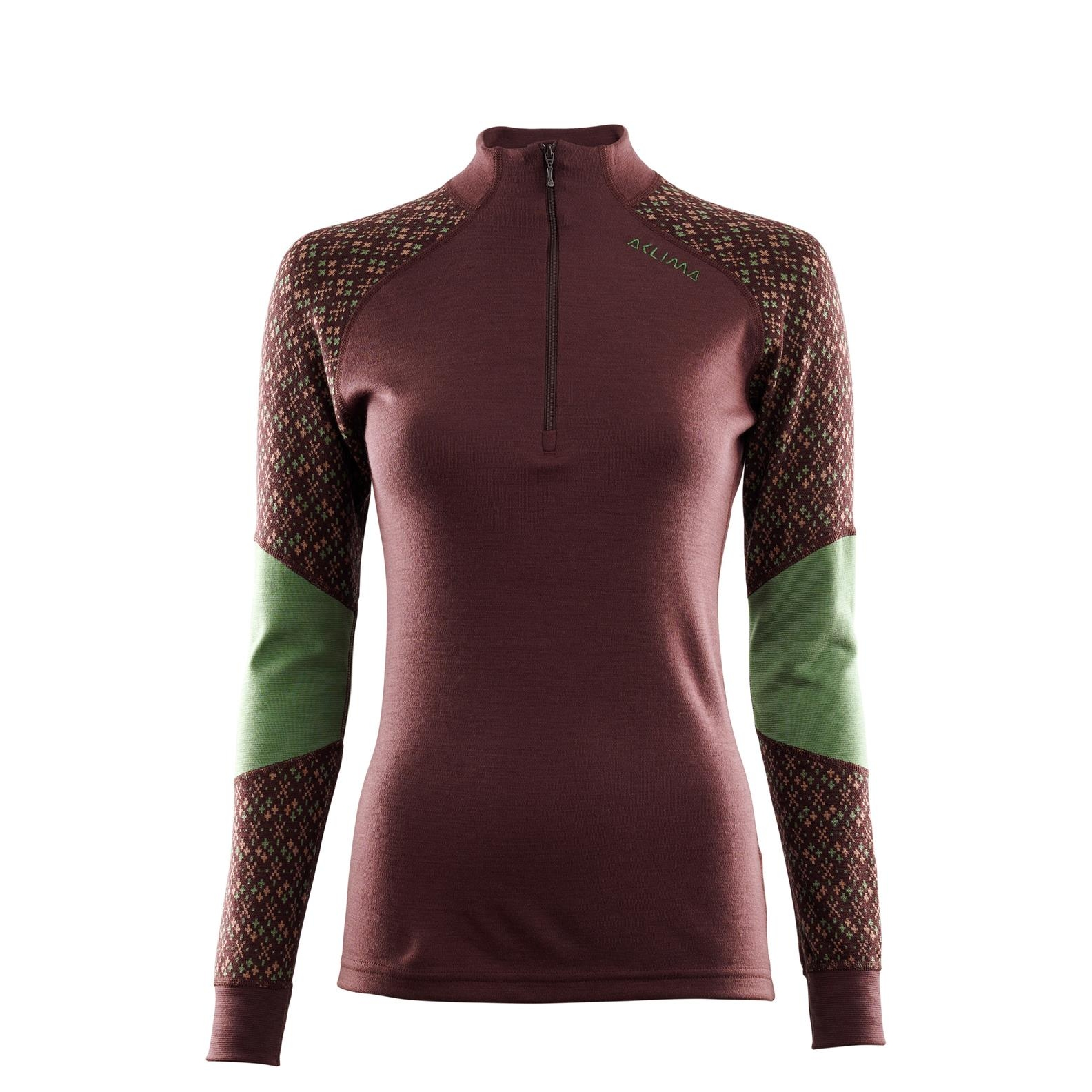 Image of Aclima Designwool Glitre Women's Mock Neck Longsleeve with zip - furu