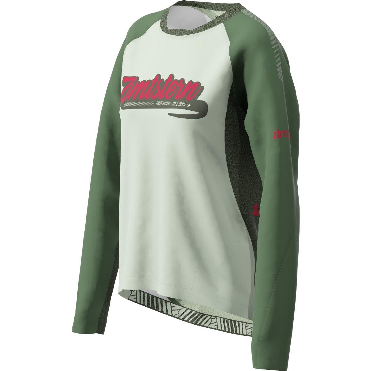 Bild von Zimtstern ProTechZonez Windbreaker MTB-Langarmshirt für Damen - bronze green/pirate black