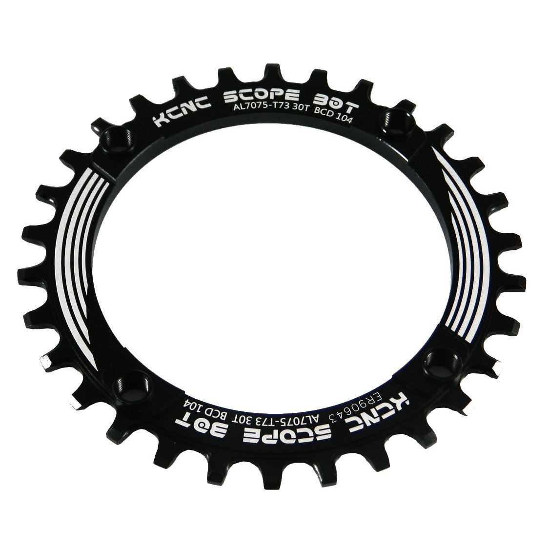 KCNC Scope MTB Chainring 104mm 1-speed Narrow-Wide - black