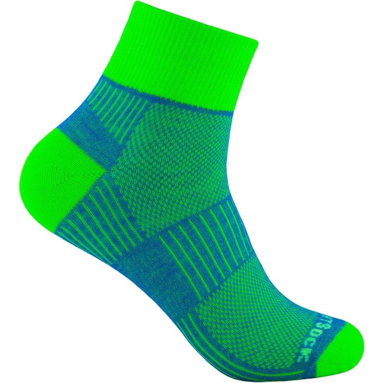 WRIGHTSOCK Coolmesh II Quarter Doppellagige Socken - blue-green - 805-63