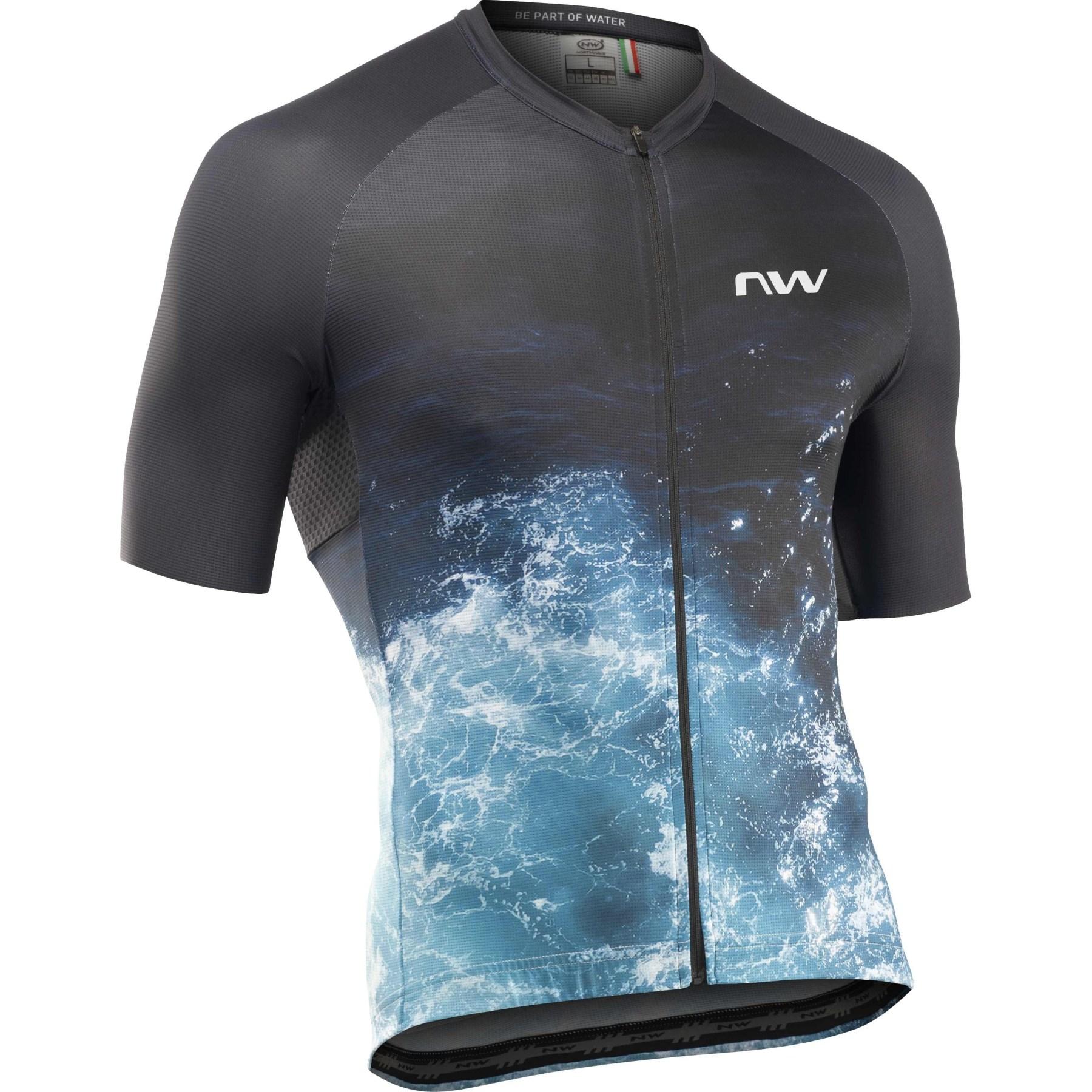 Northwave Water Jersey Short Sleeve - black/blue