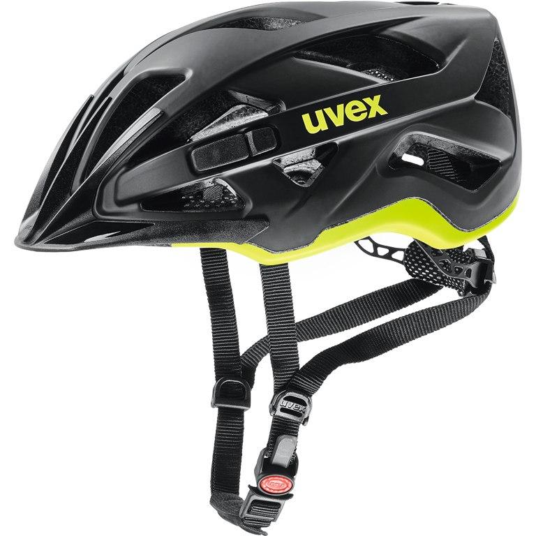 Uvex active cc Helm - black-yellow mat