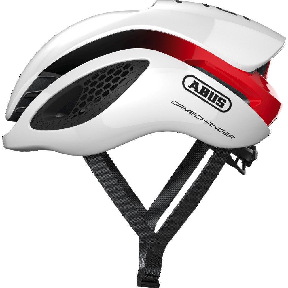 ABUS GameChanger Casco - blanco rojo