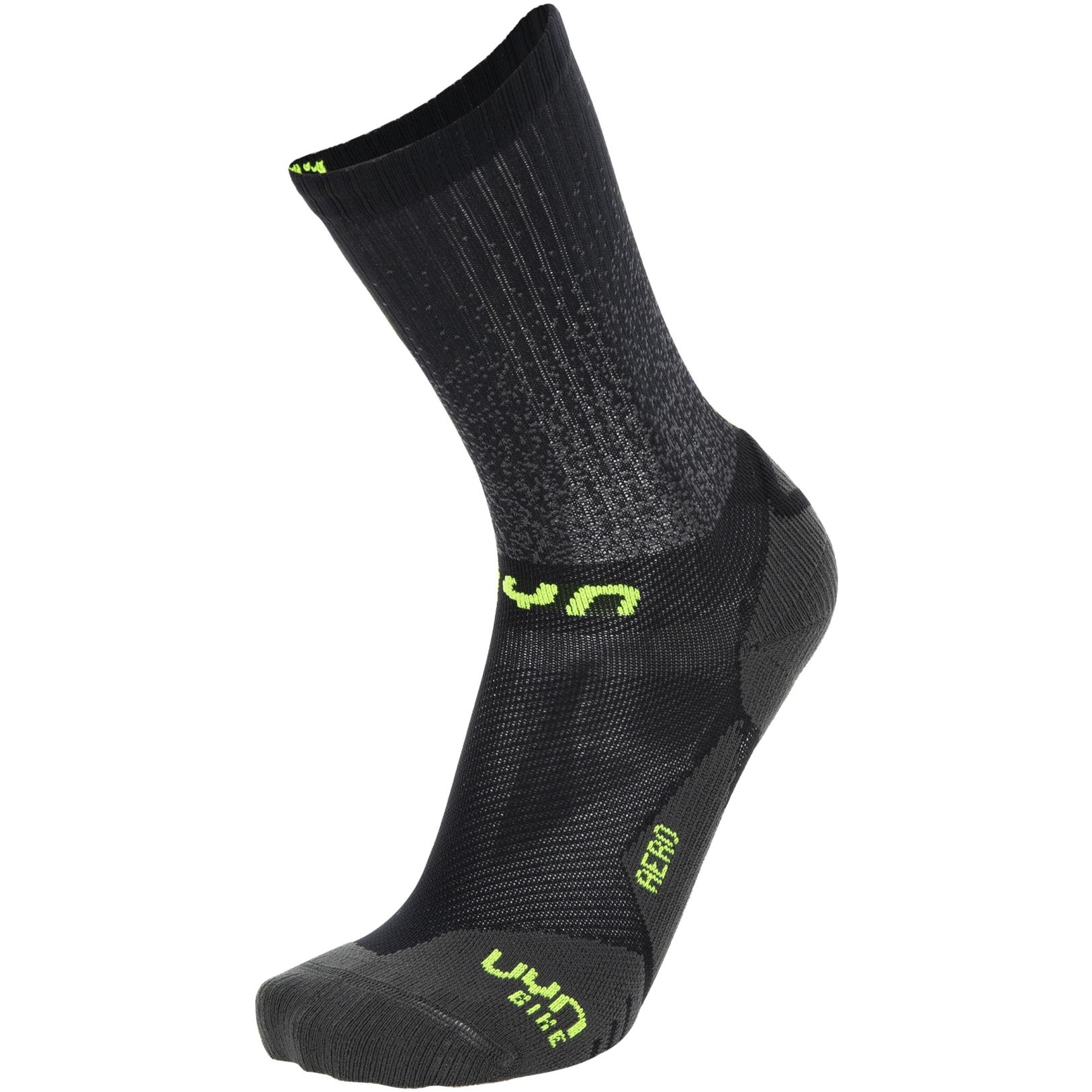 UYN Cycling Aero Socken - Black/Lime