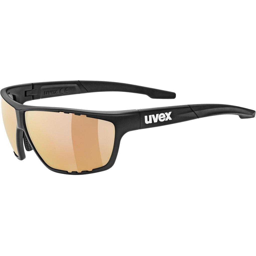Uvex sportstyle 706 colorvision vm black mat/variomatic litemirror red Brille