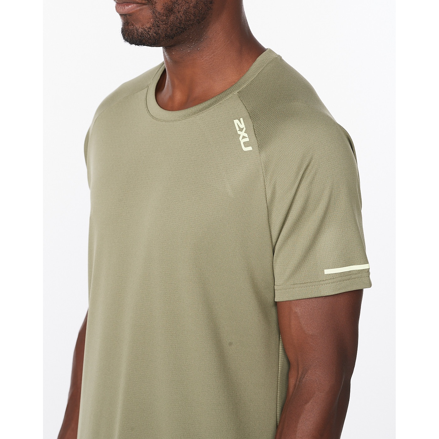 Imagen de 2XU Aero Camiseta - alpine/kiwi reflective