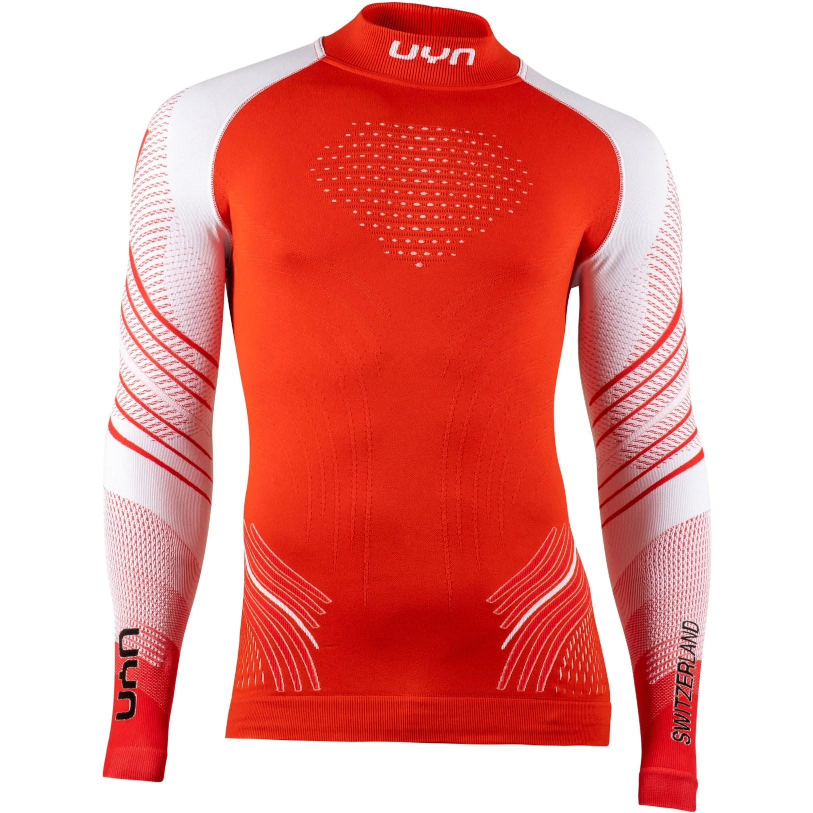 UYN Natyon 2.0 Schweiz Langarm Rollkragen Unterhemd - Switzerland