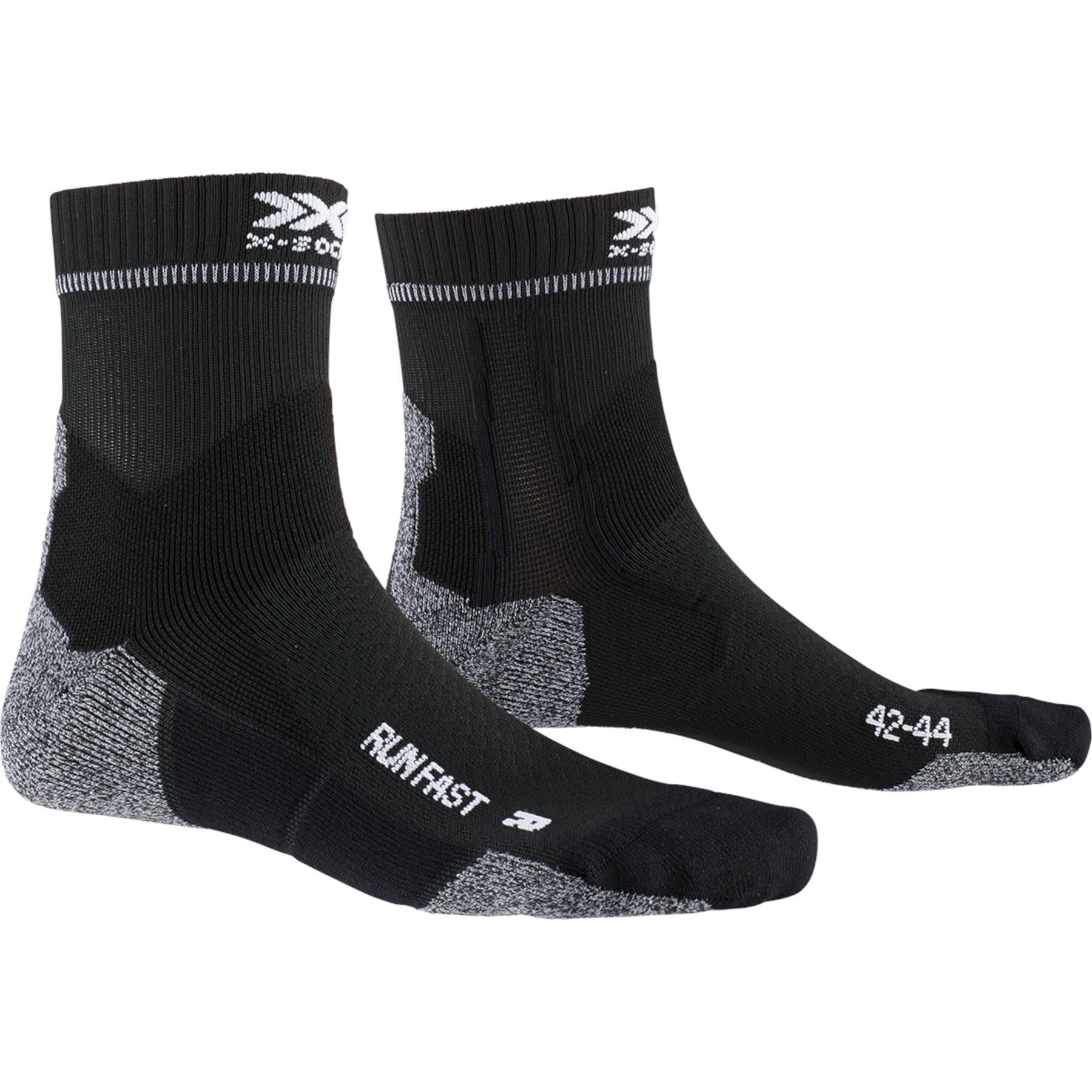 X-Socks Run Fast Laufsocken - opal black