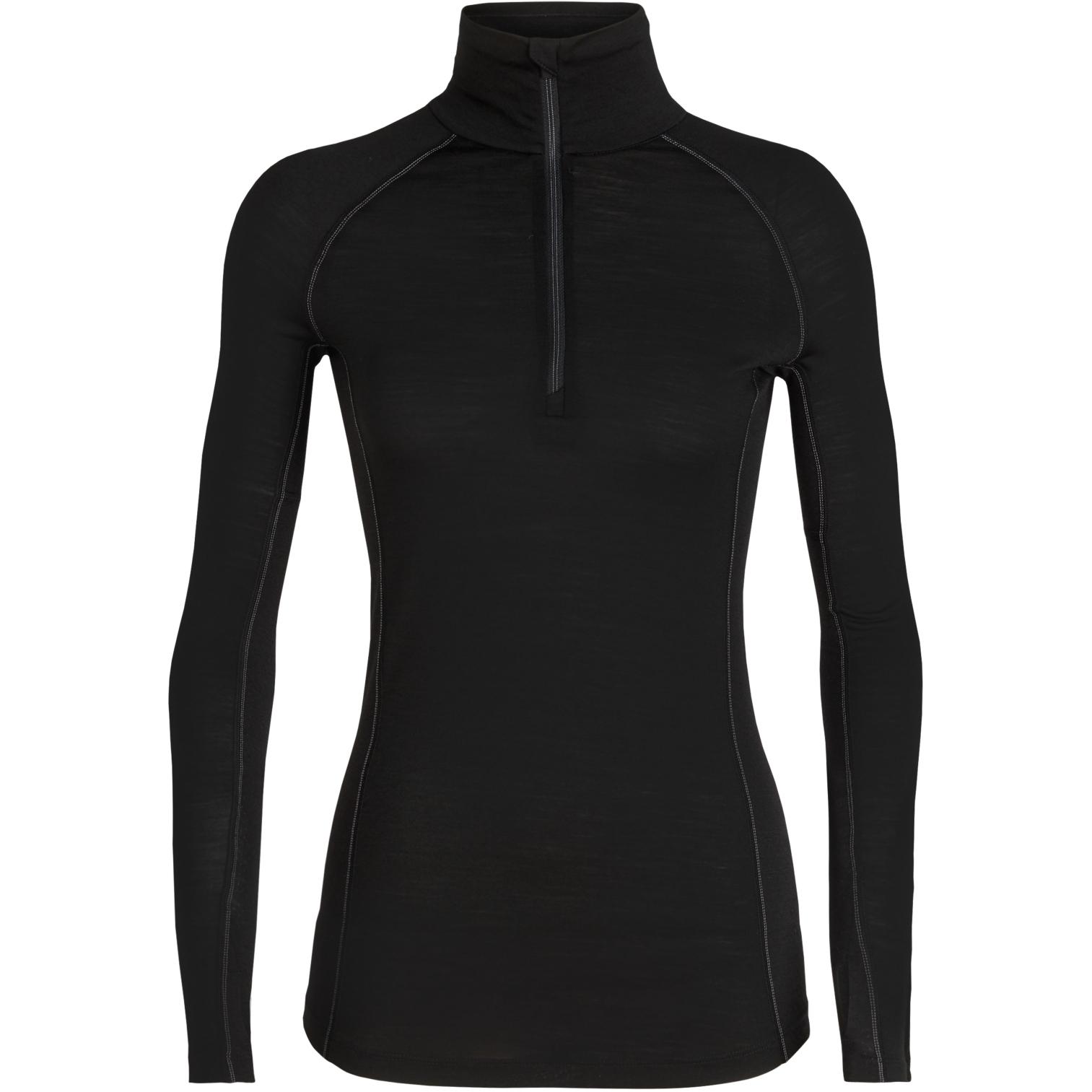 Produktbild von Icebreaker 150 Zone Half Zip Damen Langarmshirt - Black