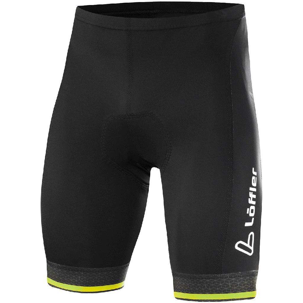 Löffler Bike Shorts Hotbond 23912 - black/light green 993