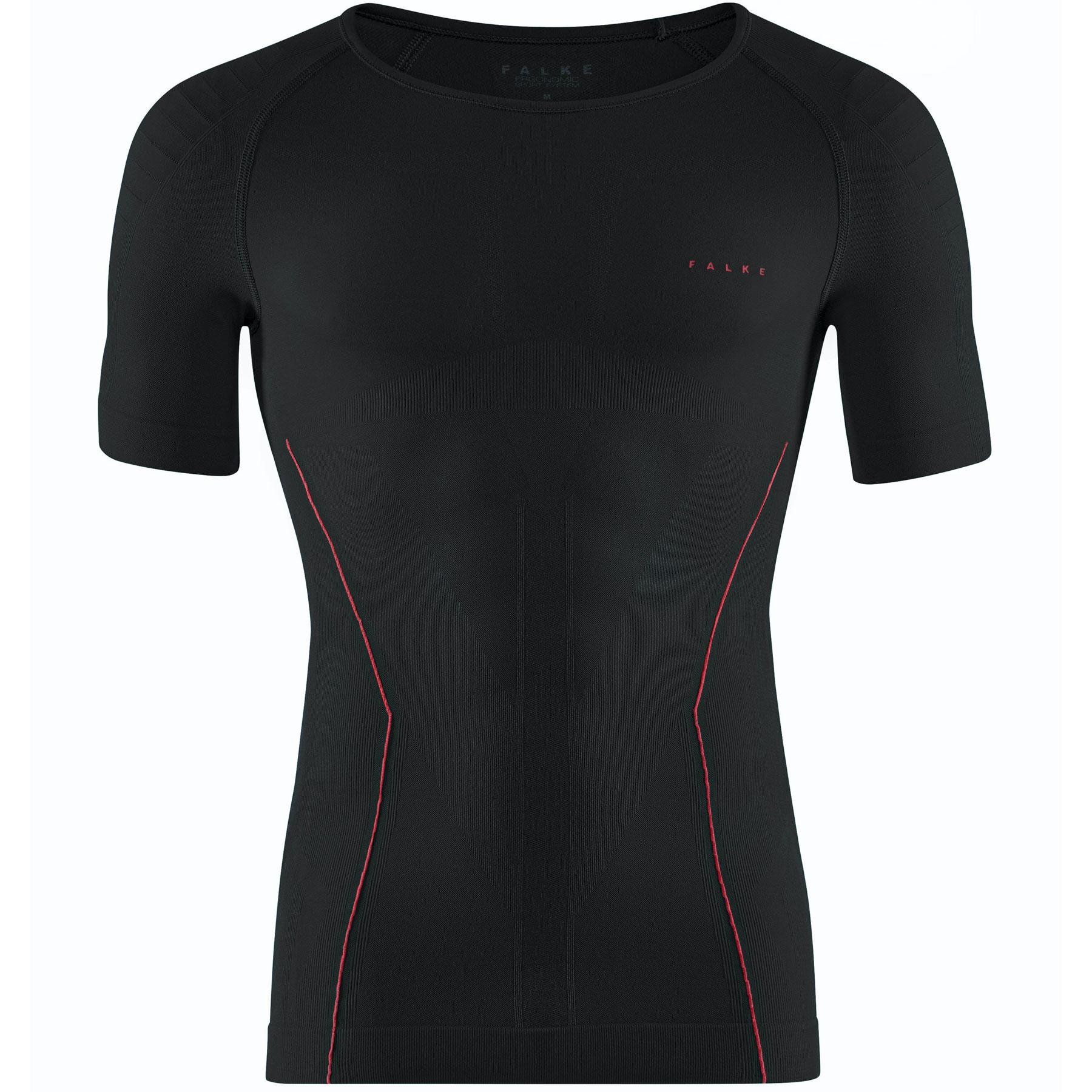Falke Short Sleeved Shirt Warm - black-fuego