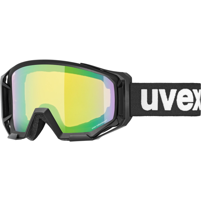 Uvex athletic CV Brille - black mat - mirror green/colorvision yellow