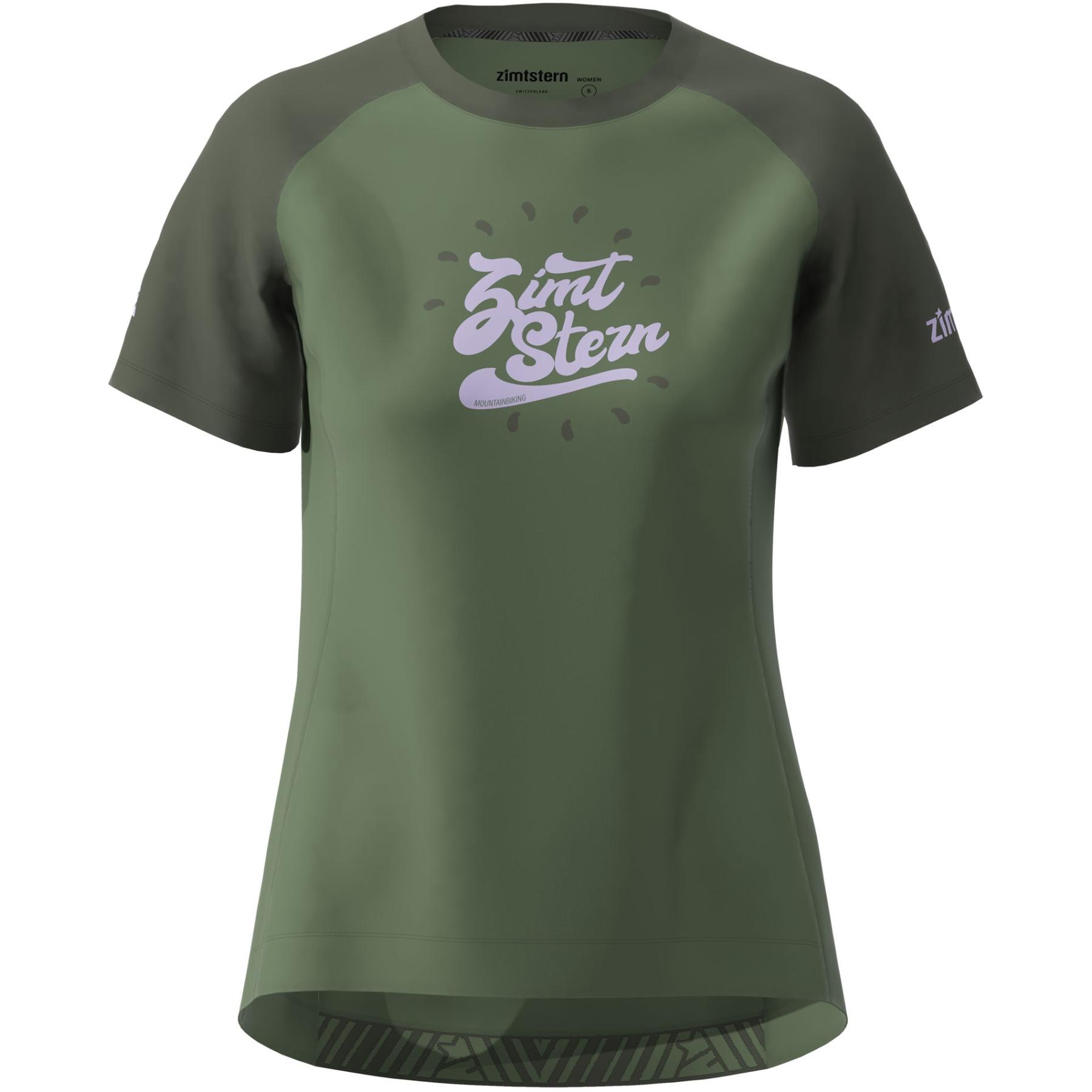 Zimtstern PureFlowz Kurzarm-Shirt Damen - bronze green/forest night