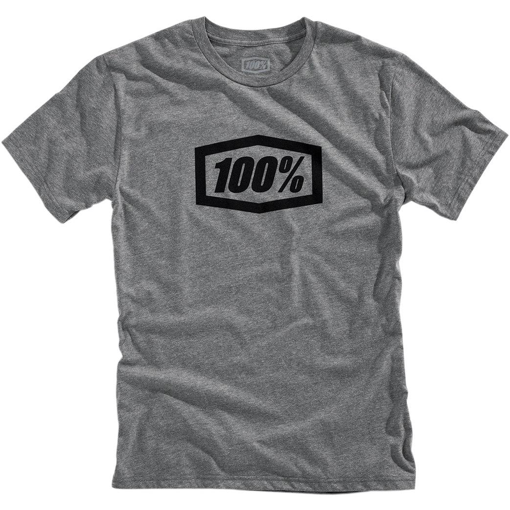 100% Essential T-Shirt - gunmetal heather/black