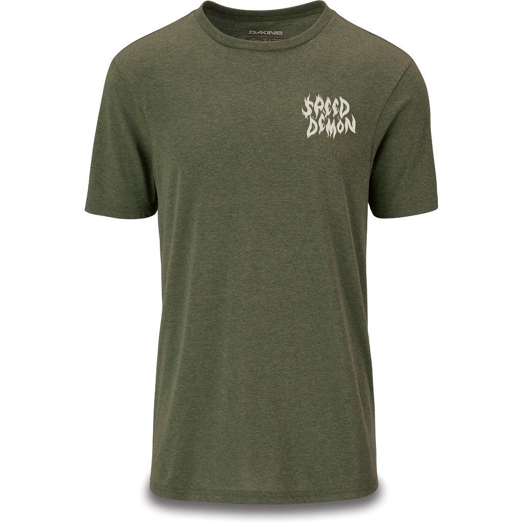 Dakine Speed Demon Tech T-Shirt - Dark Olive Heather