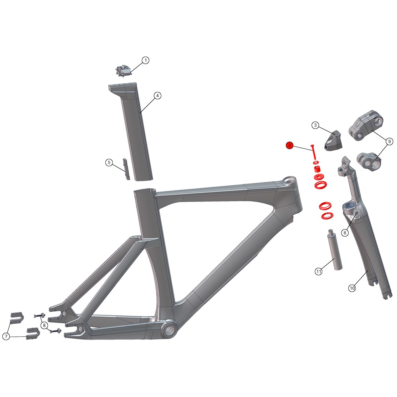 BMC Headset for Trackmachine 01 as from 2014 & Timemachine TM01 (2015-2017) - 213709