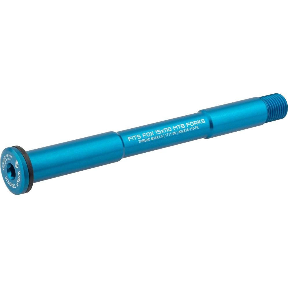 Wolf Tooth Steckachse 15x110mm Boost für FOX Gabeln - blau
