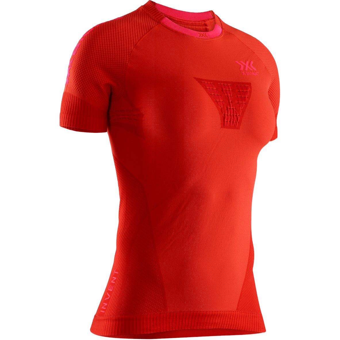 X-Bionic Invent 4.0 Run Speed Kurzarm-Laufshirt für Damen - sunset orange/neon flamingo