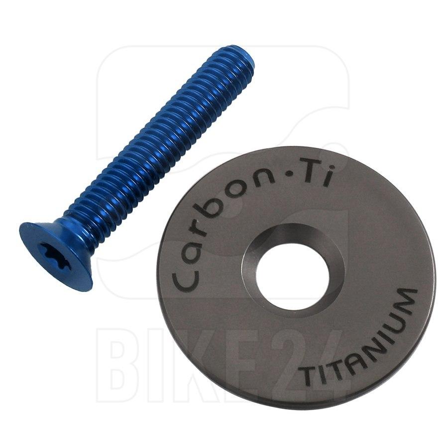 Carbon-Ti X-Cap 3 Ahead Cap - Titanium - blue