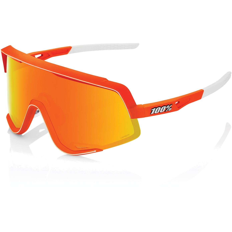 100% Glendale - Hiper Multilayer Mirror Lens Gafas - Neon Orange/Red + Clear