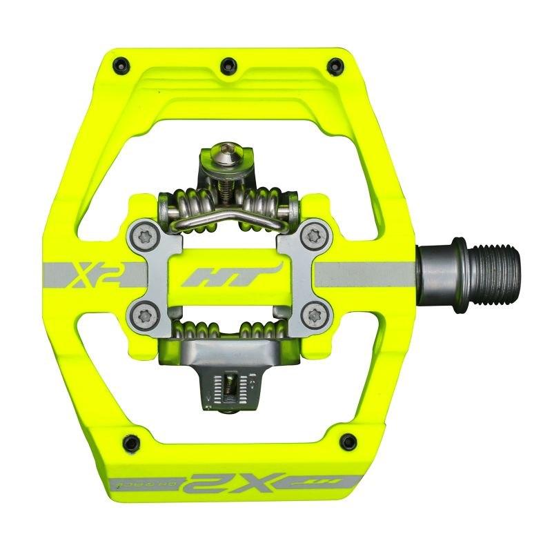 Produktbild von HT X2 Klickpedal Aluminium - neon gelb