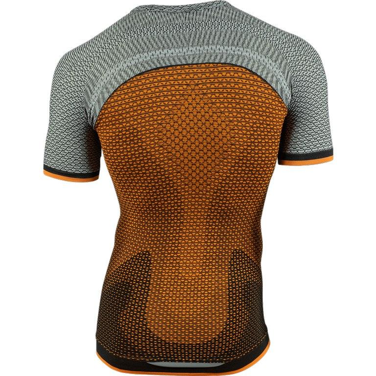 Image of UYN Alpha Running Man Shirt Short Sleeves - Dragon Fire/Sleet Grey