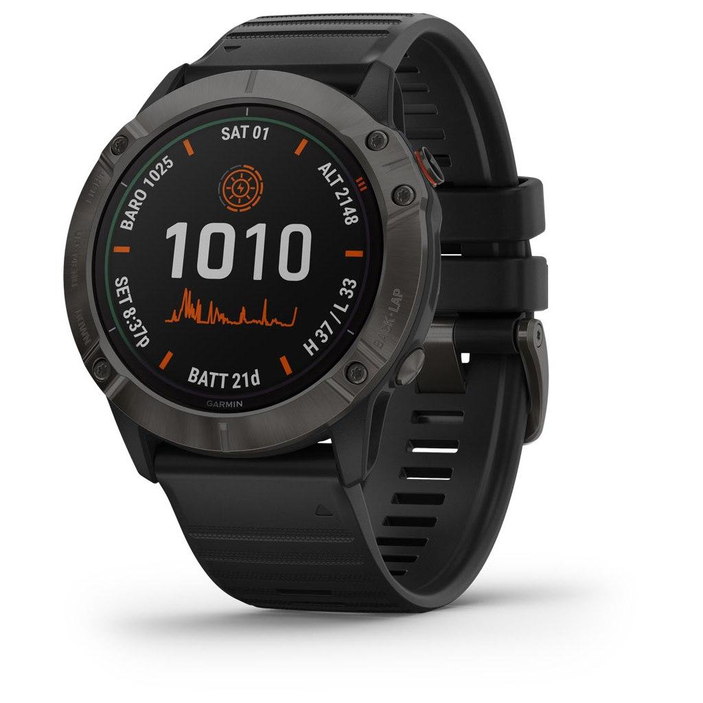 Produktbild von Garmin fenix 6X PRO SOLAR GPS Smartwatch - schwarz/schiefergrau