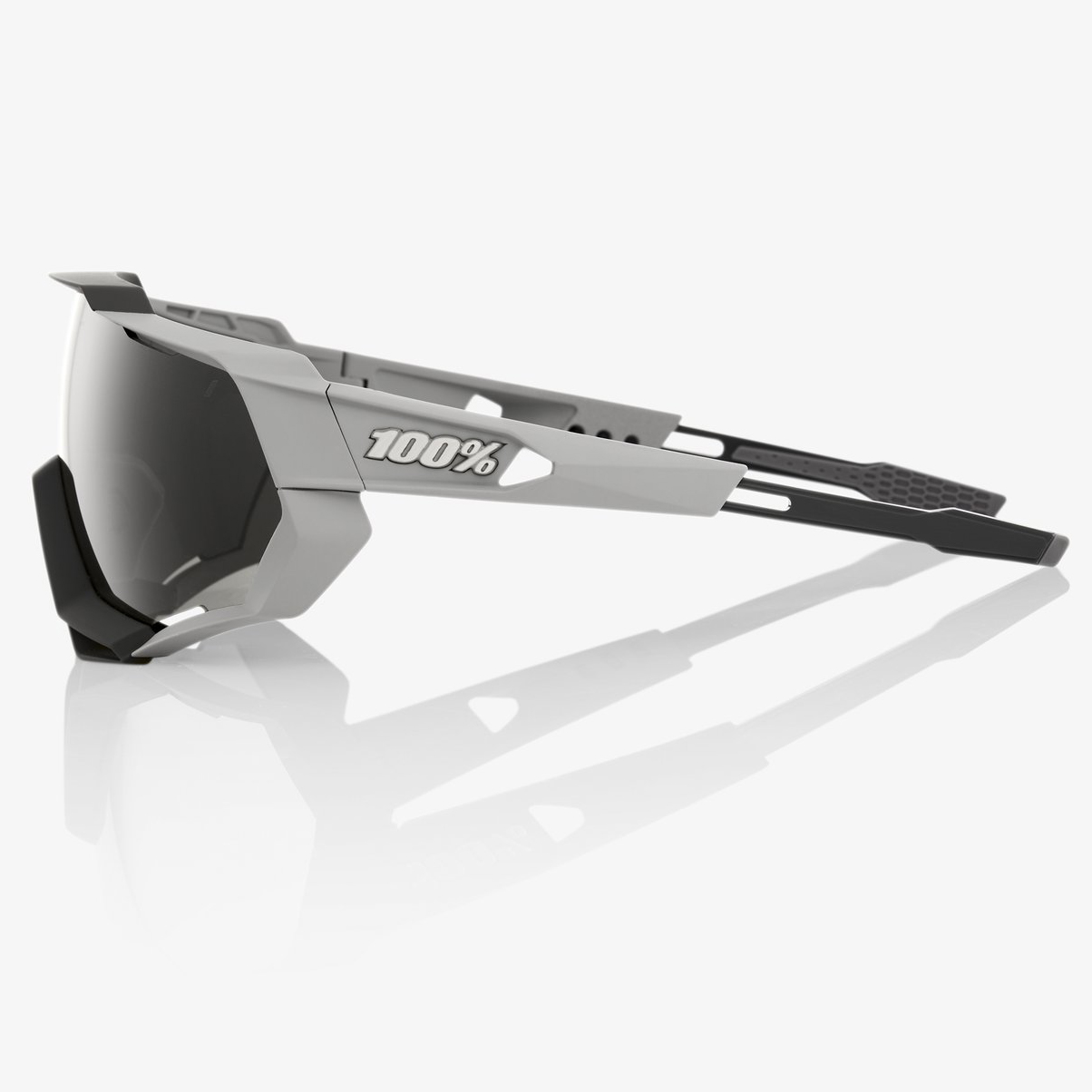 Imagen de 100% Speedtrap Smoke Glasses - Soft Tact Stone Grey/Smoke + Clear