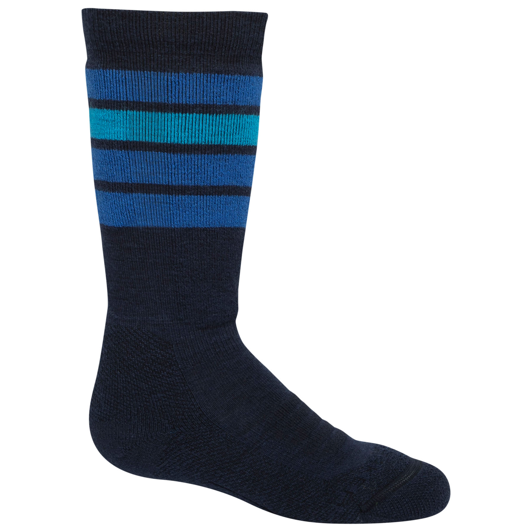Icebreaker Kids Ski Medium OTC Stripe Socks - Midnight Navy