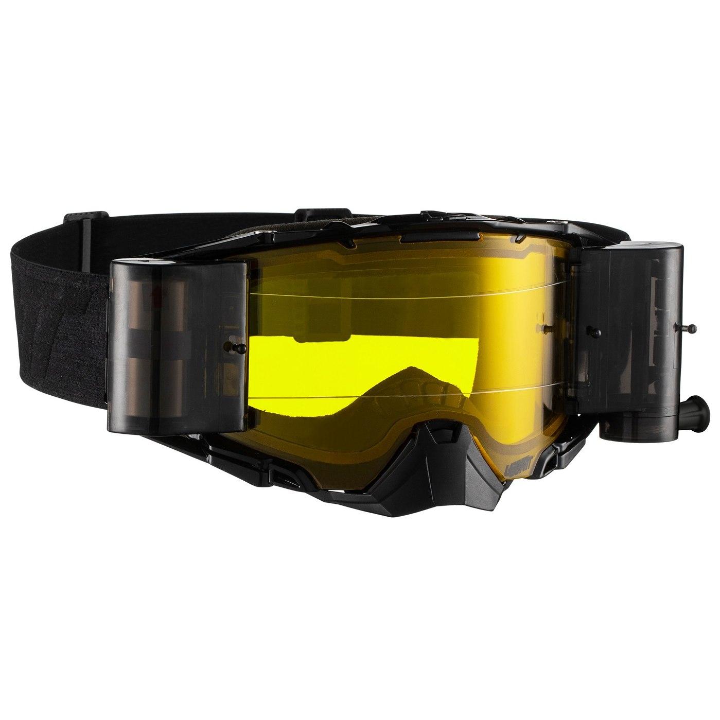 Leatt Velocity 6.5 Roll-Off Goggle Brille - black/grey- yellow lens