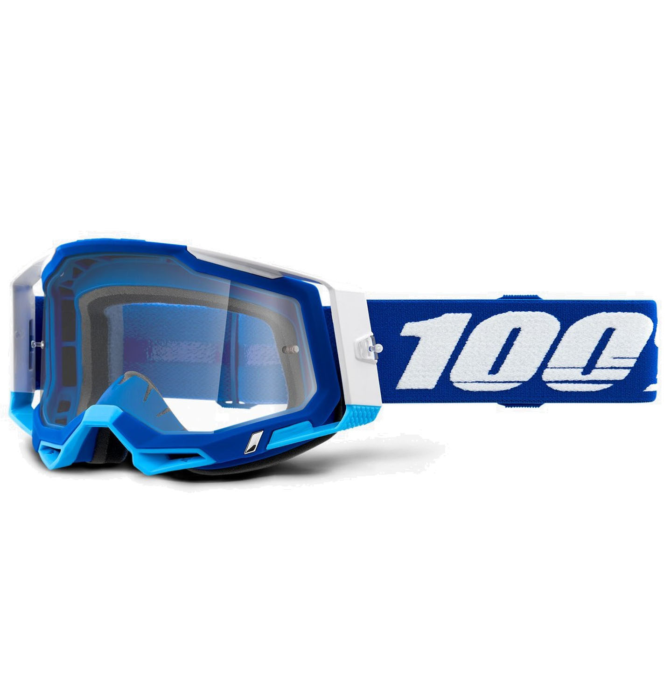 100% Racecraft 2 Goggle Clear Lens Gafas - Blue