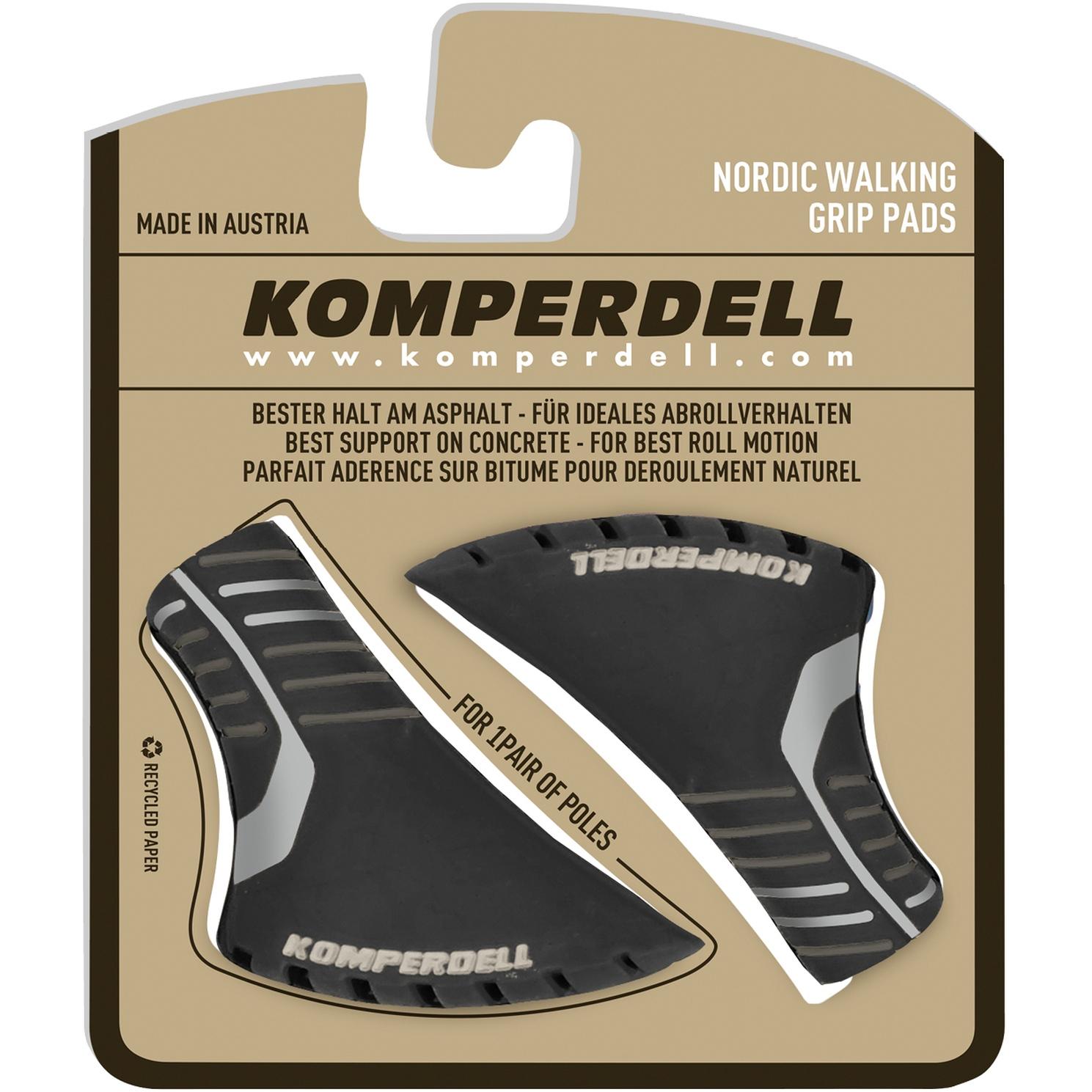 Bild von Komperdell Nordic Walking Pads für Trekkingstöcke - schwarz/silber