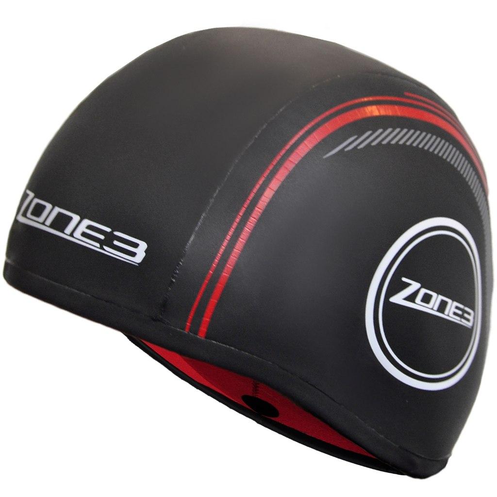 Produktbild von Zone3 Neoprene Strapless Schwimmkappe - black/red